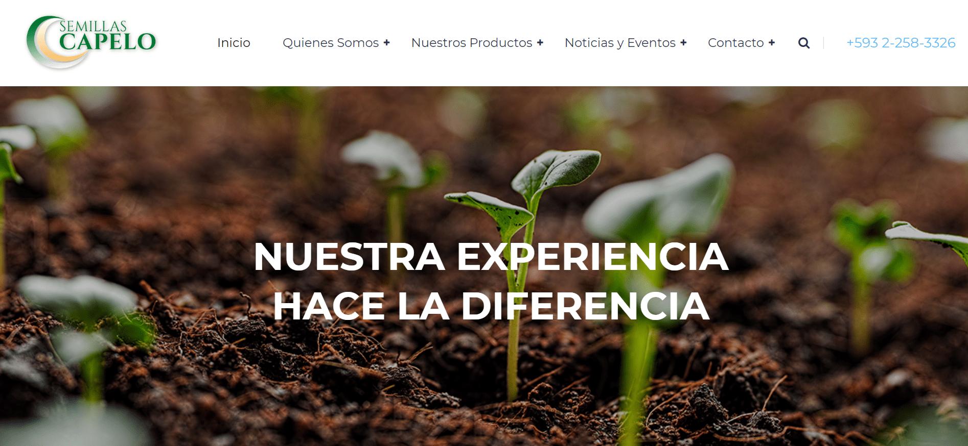 Semillas Capelo Homepage