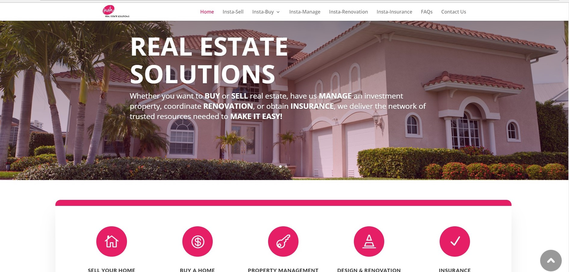 Insta Real Estate Solutions Home Page