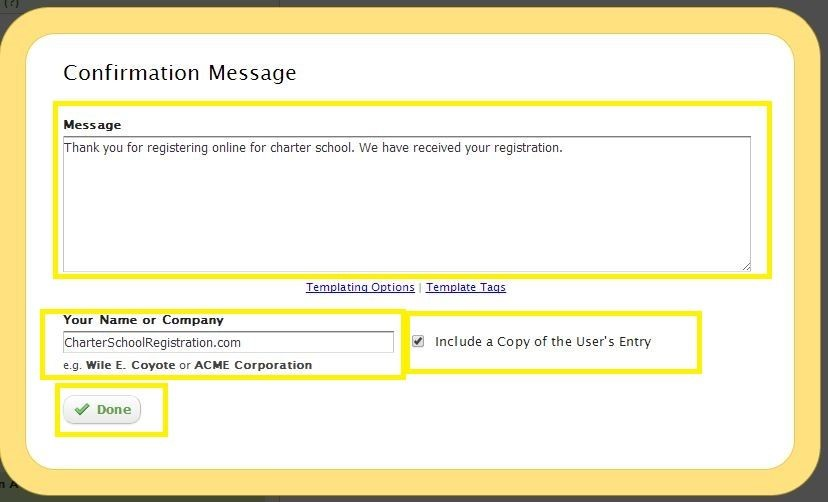 edit confirmation message